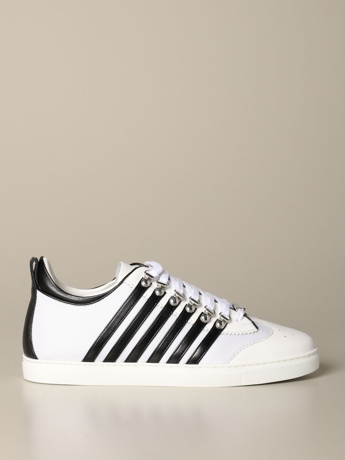 Sneakers Dsquared2: Dsquared2 sneakers in micro mesh and leather white 1