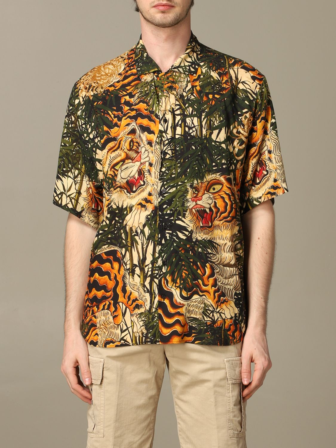 Shirt Dsquared2: Dsquared2 printed shirt with short sleeves green 1