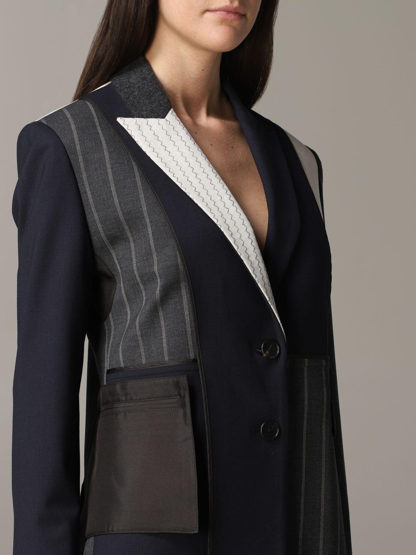Monse single-breasted patchwork jacket blue 5