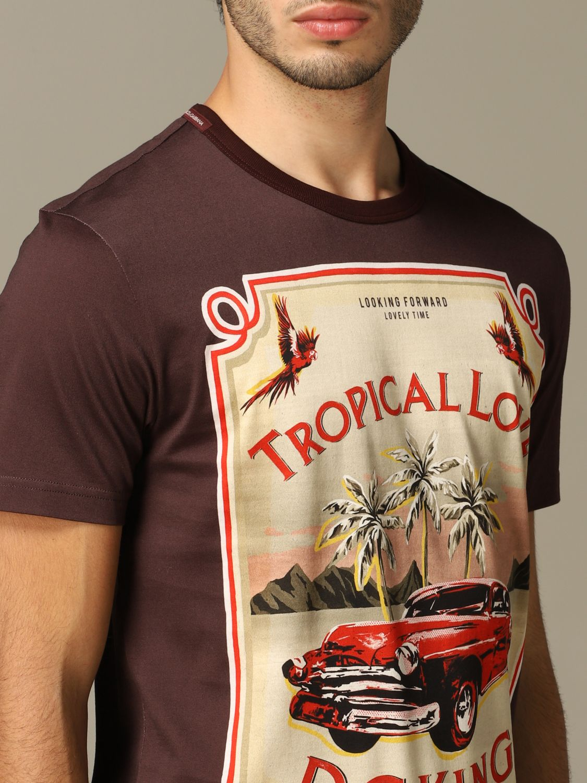 T-Shirt Dolce & Gabbana: T-shirt herren Dolce & Gabbana burgunderrot 3