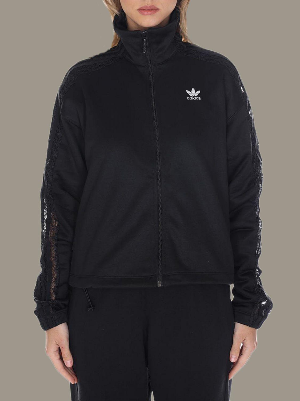 卫衣 Adidas Originals: 卫衣 女士 Adidas Originals 黑色 1
