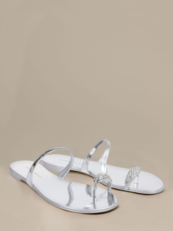 Обувь без каблука Женское Giuseppe Zanotti Design серебряный 2