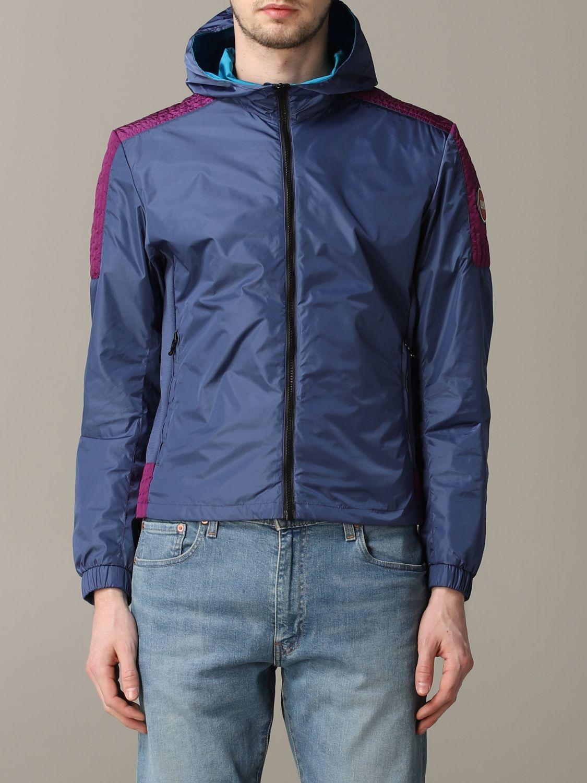 Veste Colmar: Veste en nylon Colmar avec capuche bleu 1
