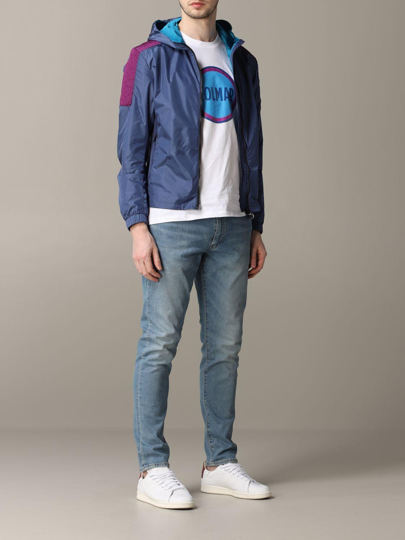 Veste Colmar: Veste en nylon Colmar avec capuche bleu 2