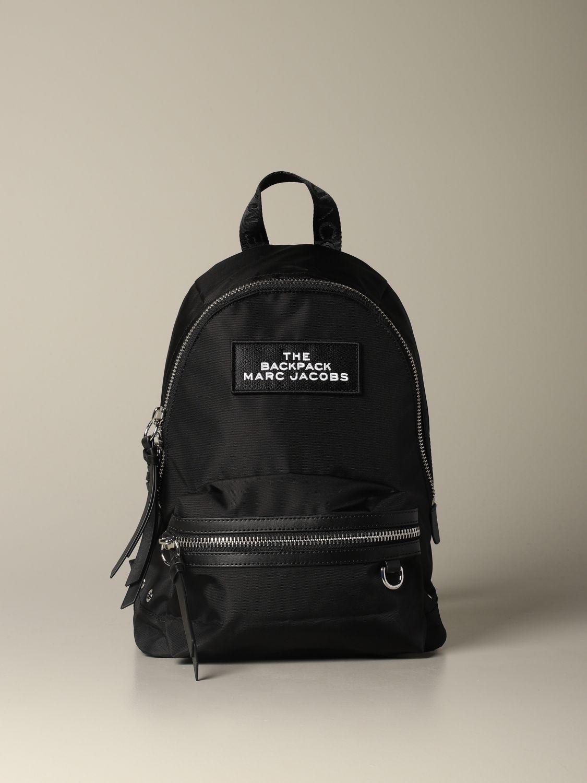 Marc Jacobs medium nylon backpack with logo black 1