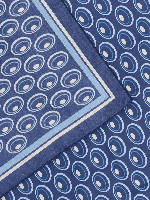 Seidentuch herren Lardini blau 3