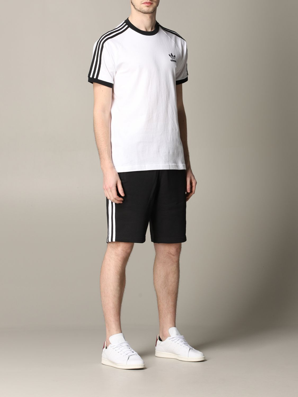 T-shirt Adidas Originals à manches courtes avec logo blanc 2