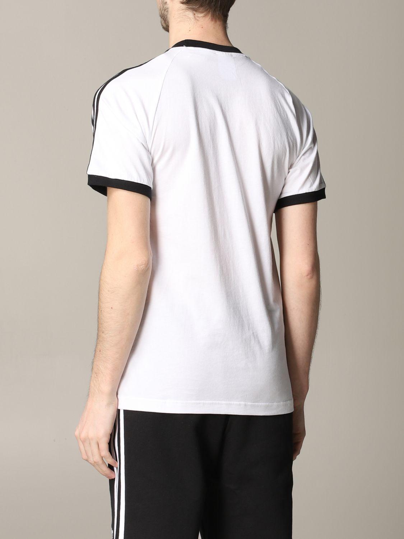 T-shirt Adidas Originals à manches courtes avec logo blanc 3
