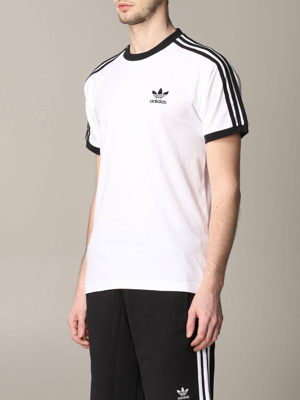 T-shirt Adidas Originals à manches courtes avec logo blanc 4