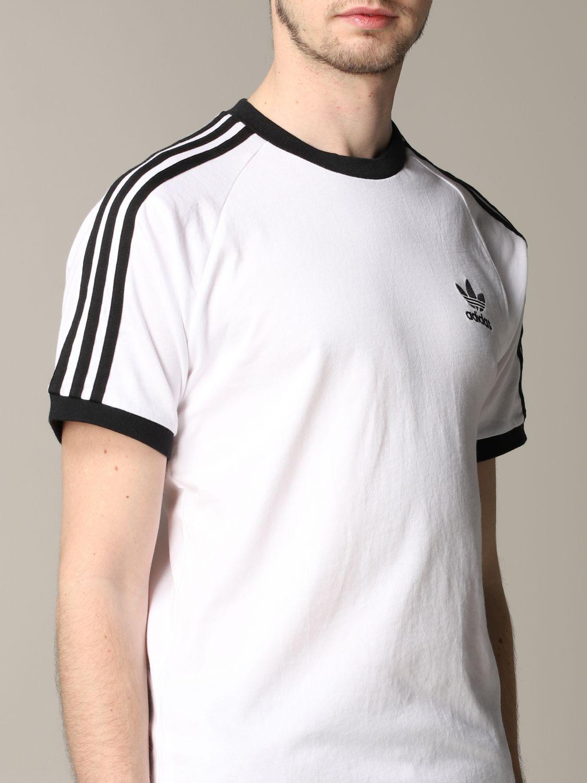 T-shirt Adidas Originals à manches courtes avec logo blanc 5