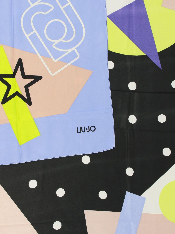 Liu Jo 印花丝巾 黑色 3