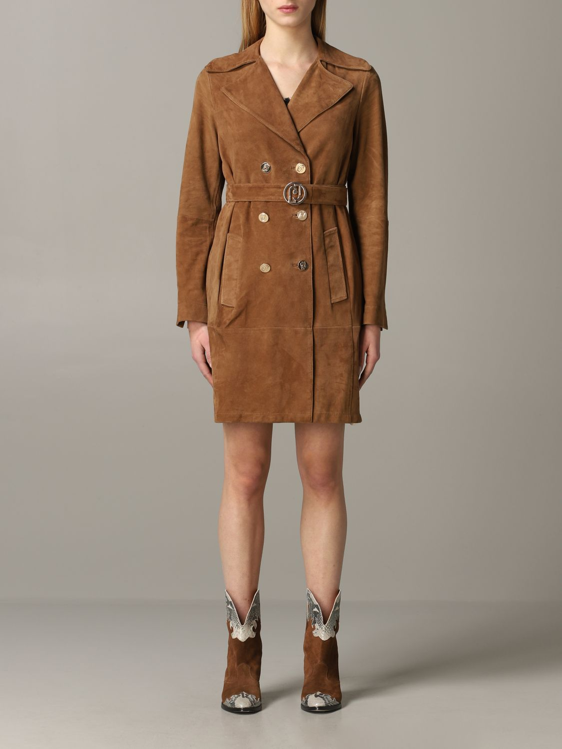 Liu Jo double-breasted coat biscuit 1