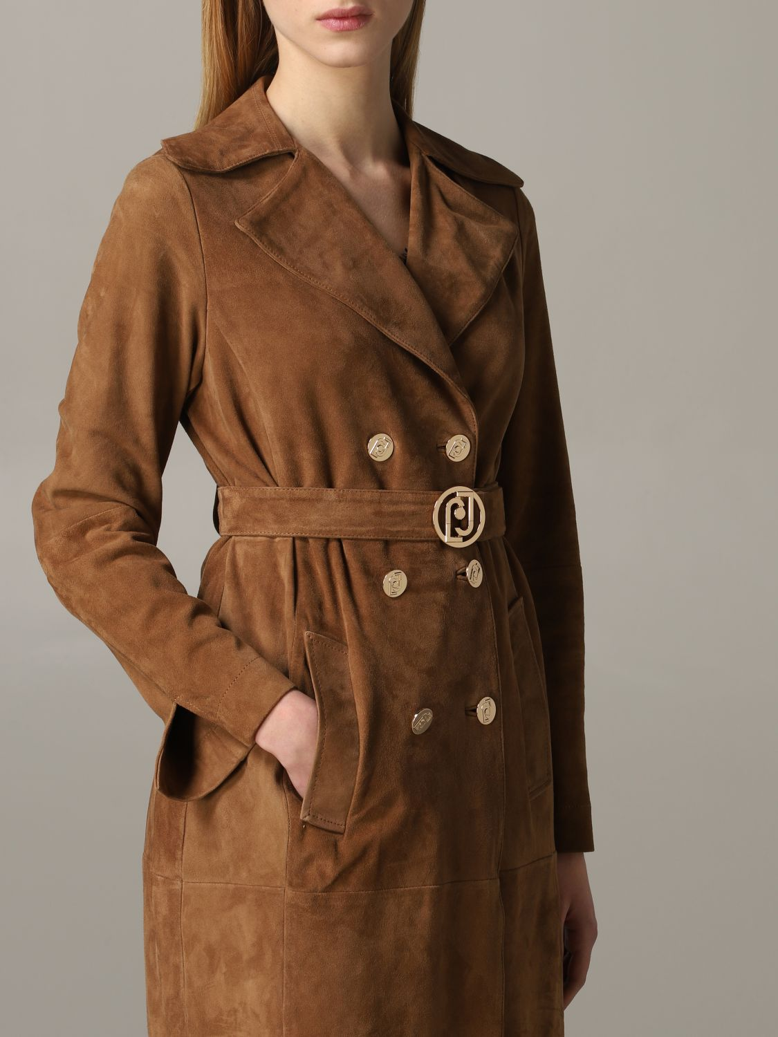Liu Jo double-breasted coat biscuit 5