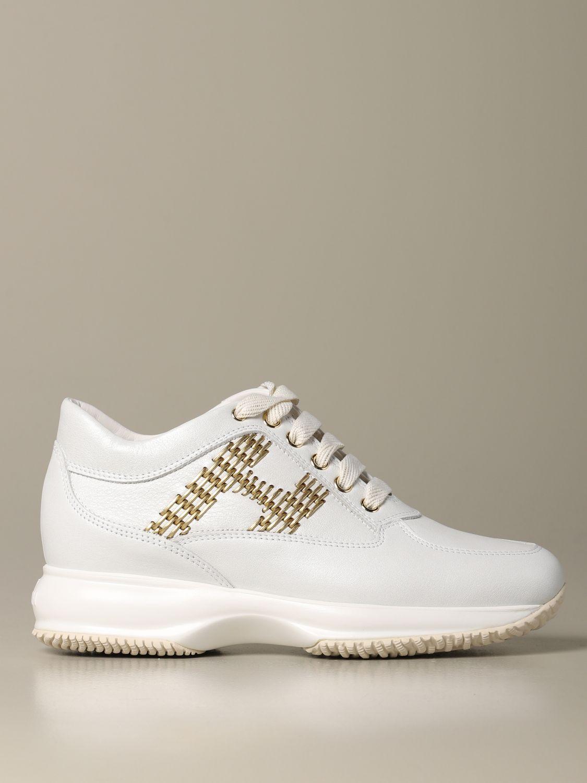 Sneakers Interactive Hogan in pelle bianco 1