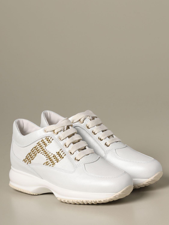 Sneakers Interactive Hogan in pelle bianco 2