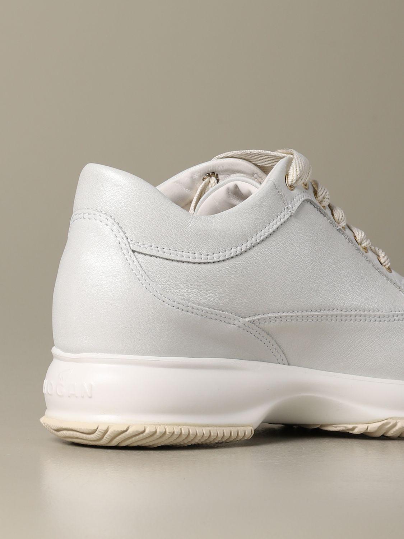 Sneakers Interactive Hogan in pelle bianco 3