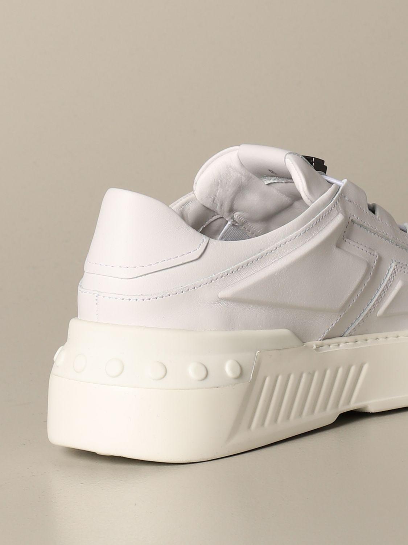 Tod's Sneakers aus Leder mit geschnitztem großem T weiss 1 3