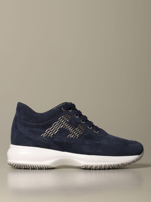 Sneakers Interactive Hogan in camoscio blue 1
