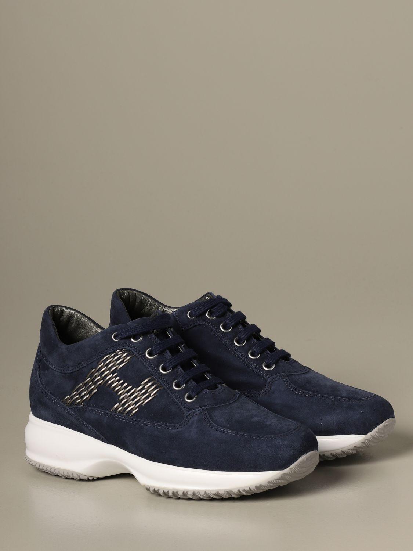 Sneakers Interactive Hogan in camoscio blue 2