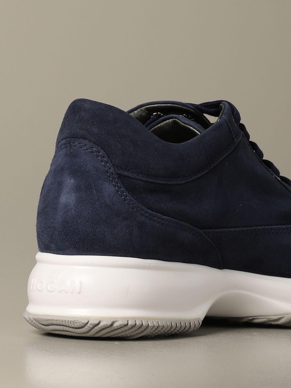 Sneakers Interactive Hogan in camoscio blue 3