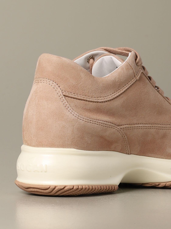 Sneakers Interactive Hogan in camoscio rosa 3