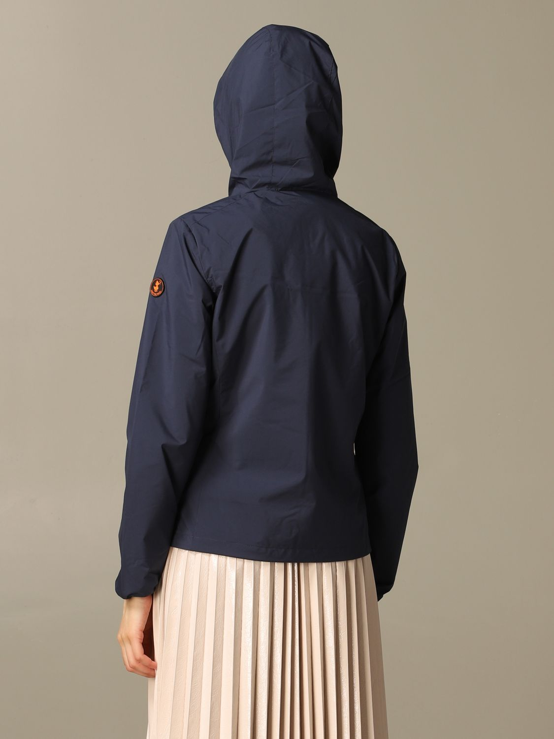 Save The Duck jacket with hood and zip navy 2