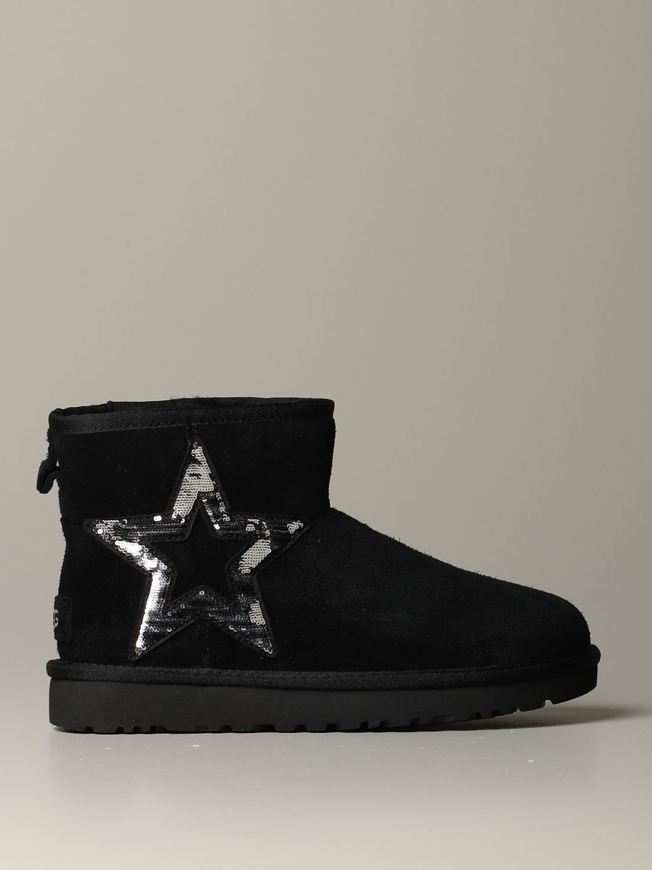 平底靴 Ugg Australia: 平底靴 女士 Ugg Australia 黑色 1