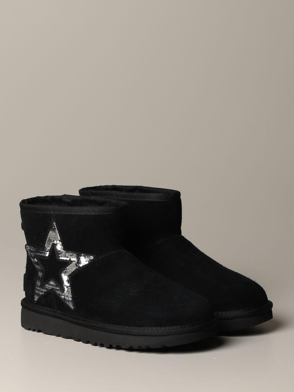 平底靴 Ugg Australia: 平底靴 女士 Ugg Australia 黑色 2