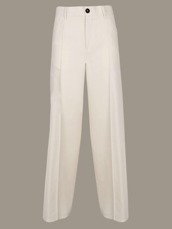 Trousers women Jil Sander white 1