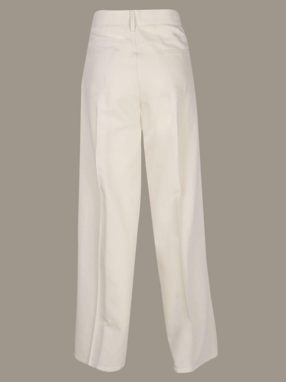 Trousers women Jil Sander white 2