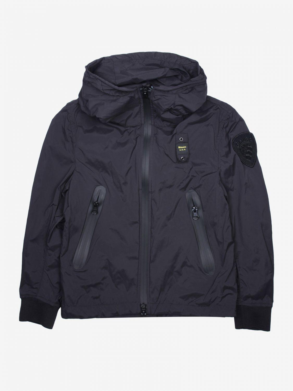外套 Blauer: Blauer 拉链连帽尼龙外套 黑色 1
