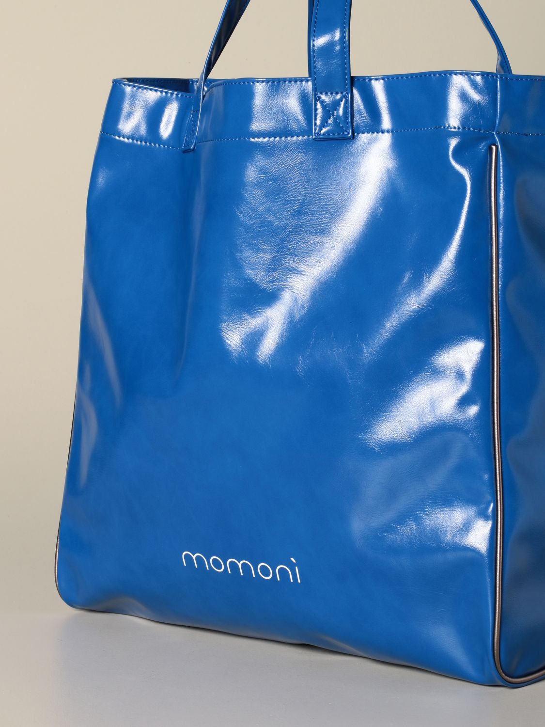 Tote bags women MomonÌ gnawed blue 3