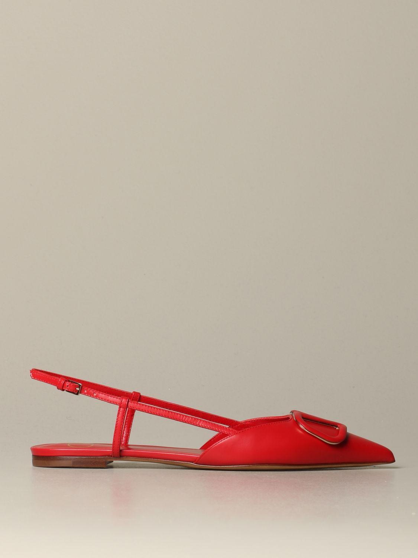 Обувь без каблука Женское Valentino Garavani красный 1