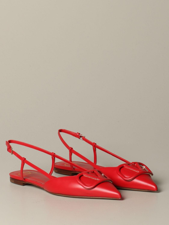 Обувь без каблука Женское Valentino Garavani красный 2