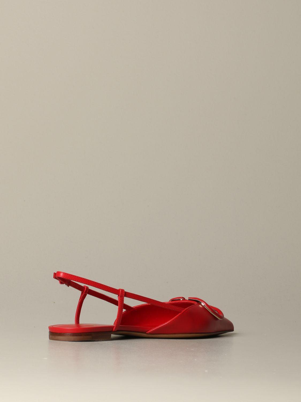 Обувь без каблука Женское Valentino Garavani красный 4