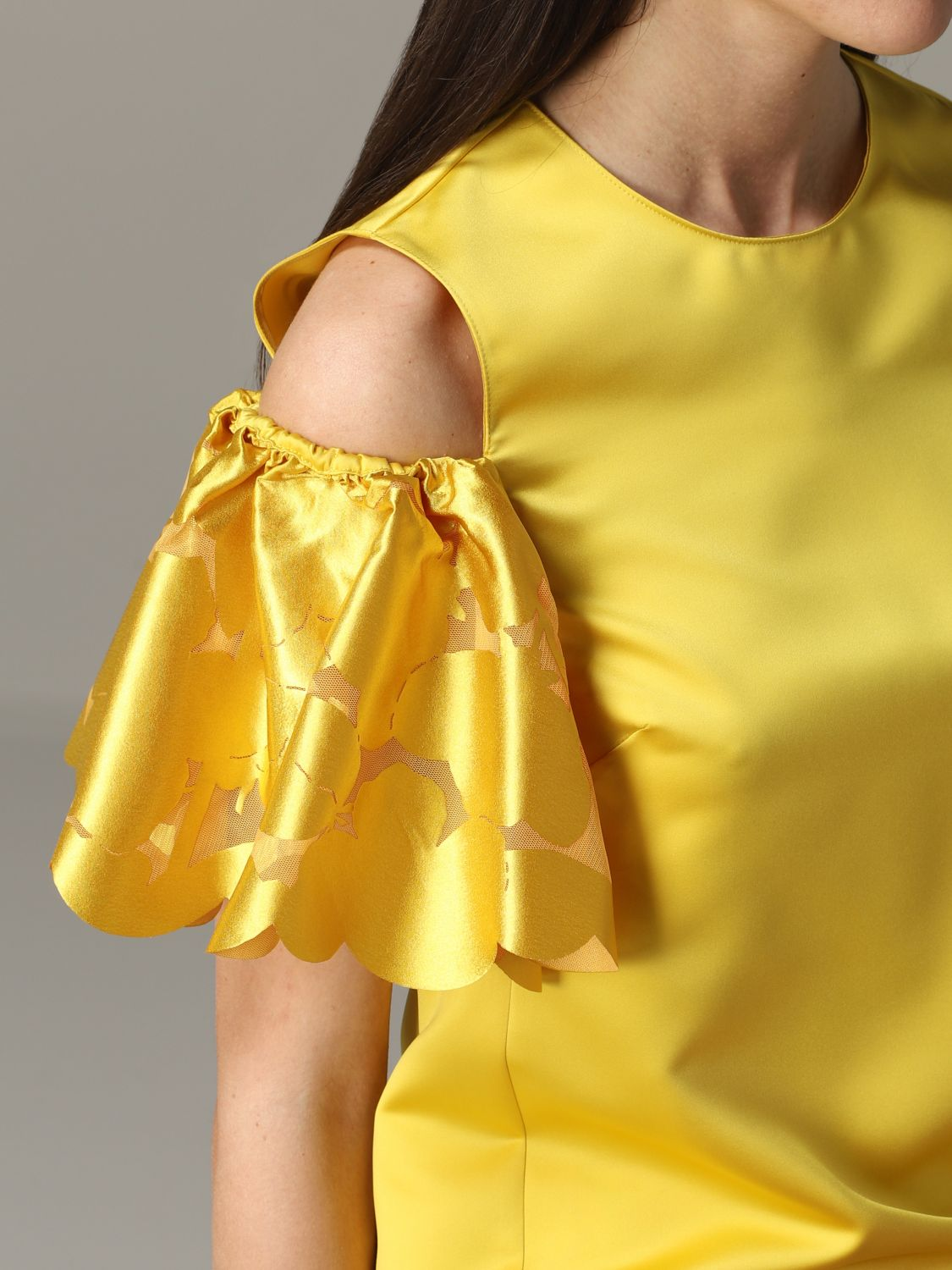 Pinko top with floral sleeves yellow 5