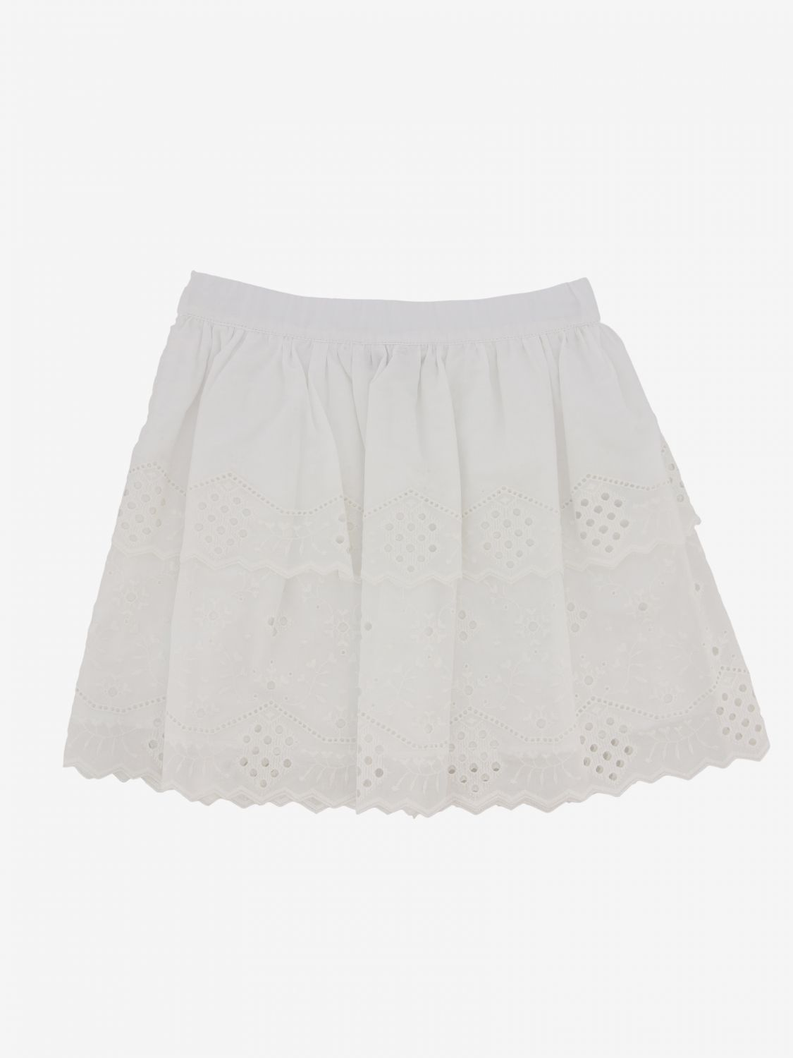 Gonna Alberta Ferretti Junior: Gonna Alberta Ferretti Junior in Sangallo bianco 2