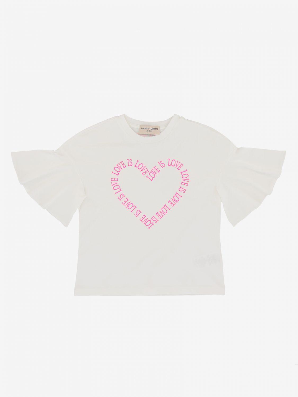 T-shirt Alberta Ferretti Junior: T-shirt Alberta Ferretti Junior con cuore logato bianco 1