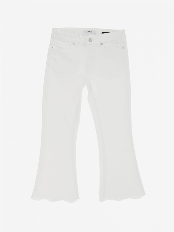 Pantalone Dondup: Pantalone Dondup a vita regolare bianco 1