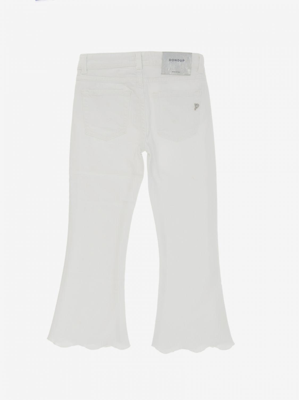 Pantalone Dondup: Pantalone Dondup a vita regolare bianco 2