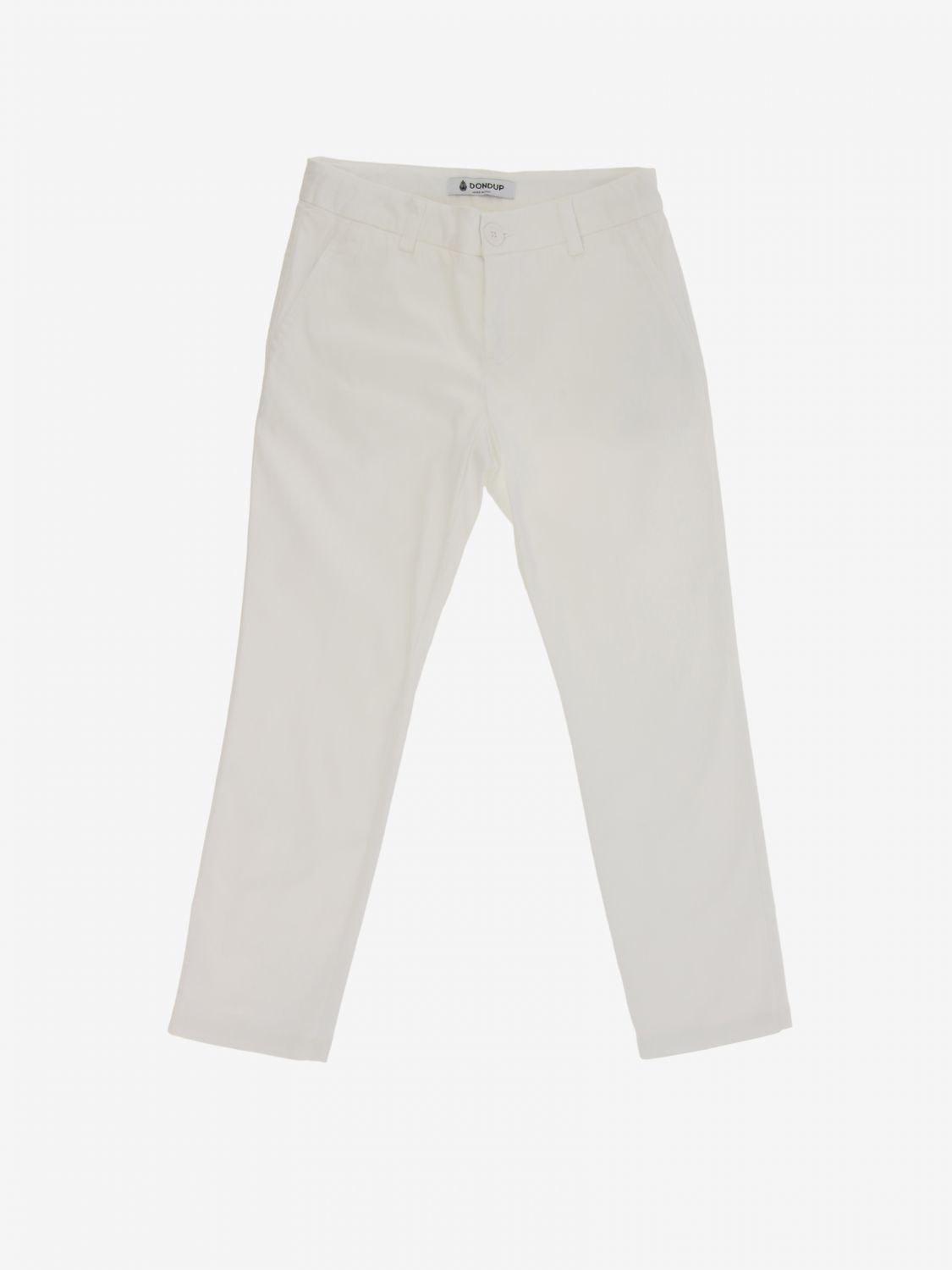 Trousers Dondup: Trousers kids Dondup white 1