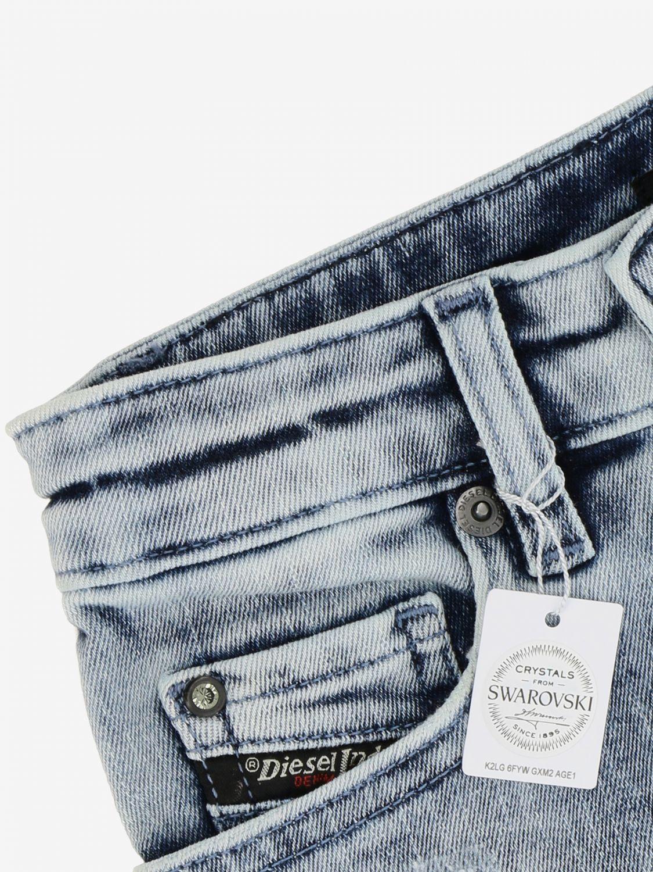 Pantaloncino Diesel: Pantaloncino di jeans Diesel a 5 tasche denim 3