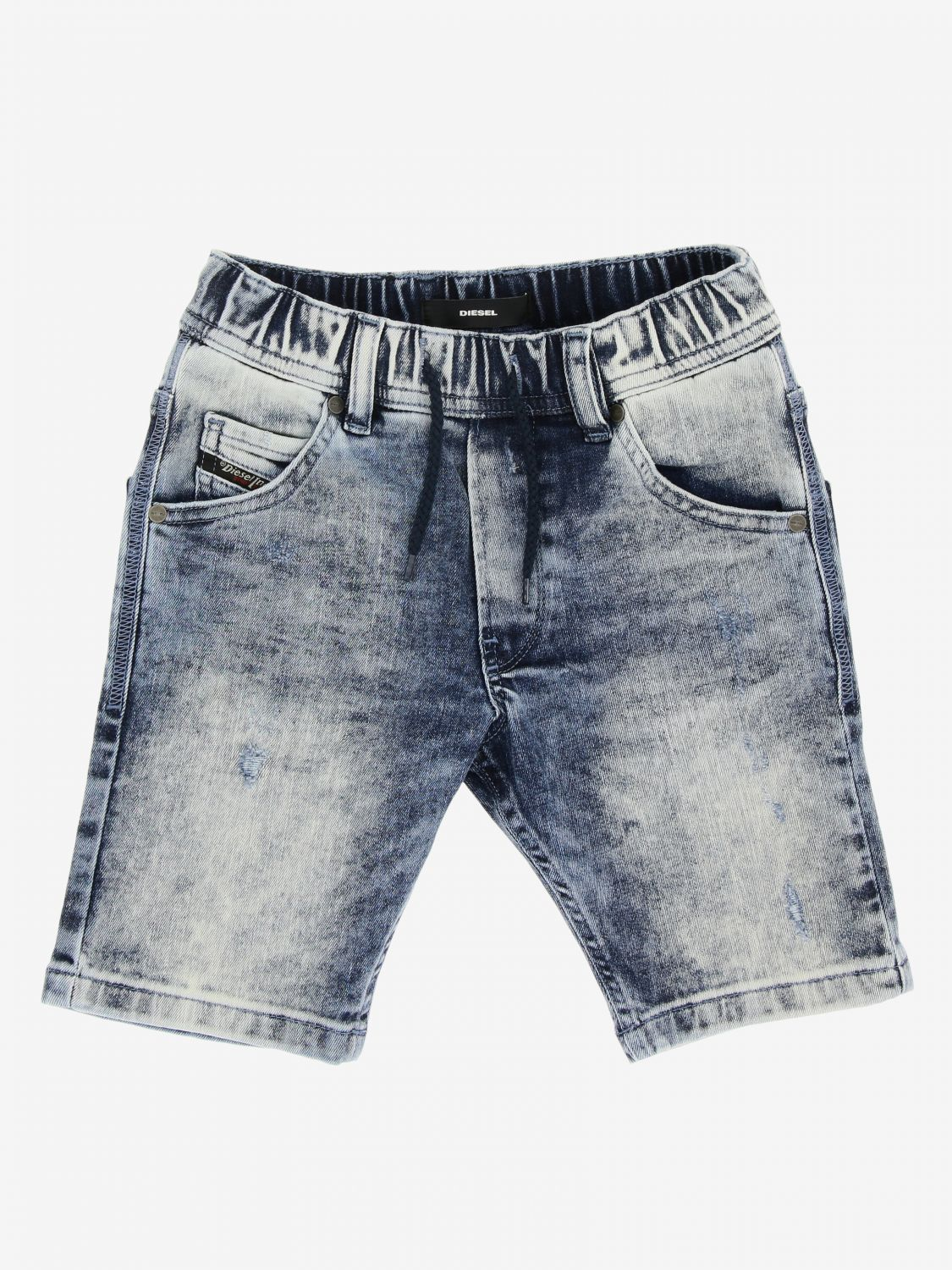 Pantaloncino Diesel: Pantaloncino Diesel in denim used con coulisse denim 1