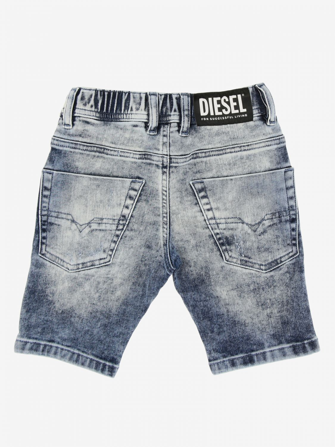 Pantaloncino Diesel: Pantaloncino Diesel in denim used con coulisse denim 2