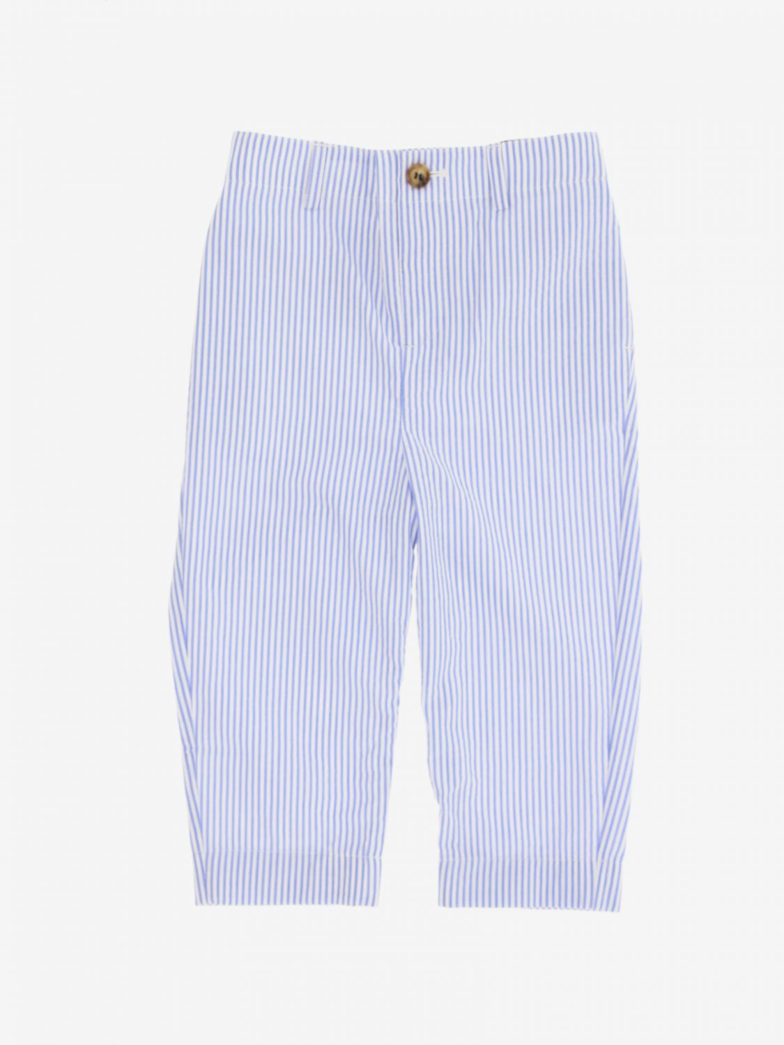 Pantalone Burberry Infant: Pantalone Burberry Infant a micro righe blue 1