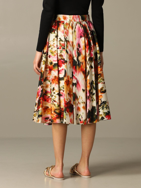 Jupe large Msgm à motif floral multicolore 2