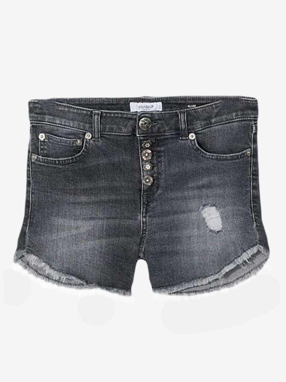 Pantaloncino Dondup: Pantaloncino di jeans Dondup a 5 tasche nero 1