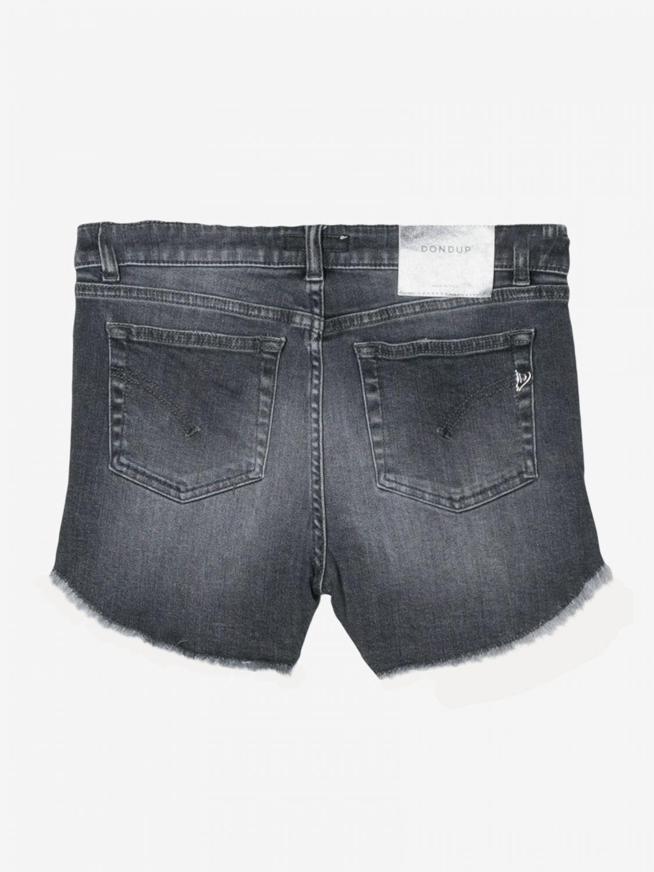 Pantaloncino Dondup: Pantaloncino di jeans Dondup a 5 tasche nero 2