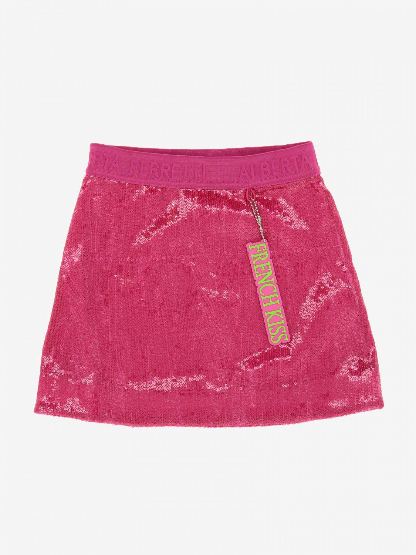 Skirt Alberta Ferretti Junior: Alberta Ferretti Junior skirt with sequins fuchsia 1