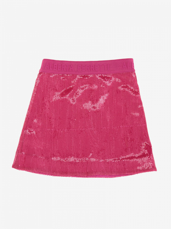 Skirt Alberta Ferretti Junior: Alberta Ferretti Junior skirt with sequins fuchsia 2